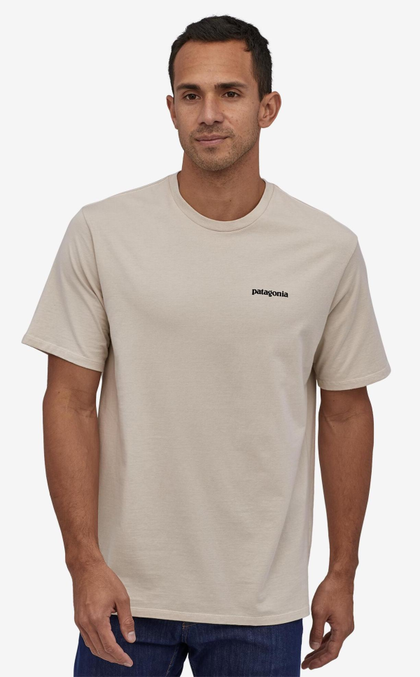 Patagonia Fitz Roy Smallmouth Organic Cotton T-Shirt Pumice Model