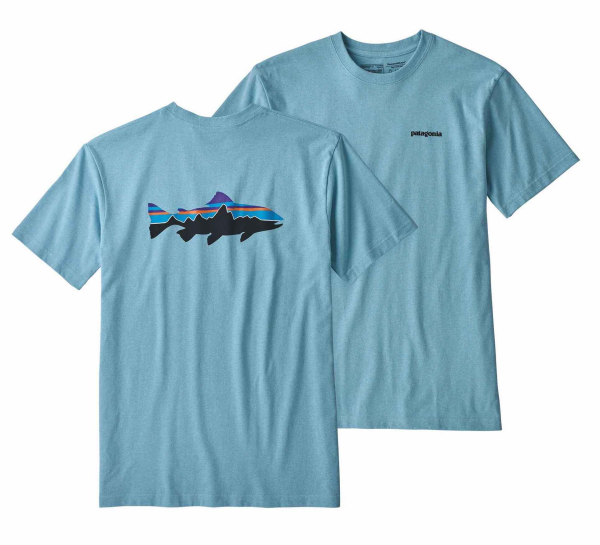 Patagonia Fitz Roy Trout Responsibili-Tee Break Up Blue