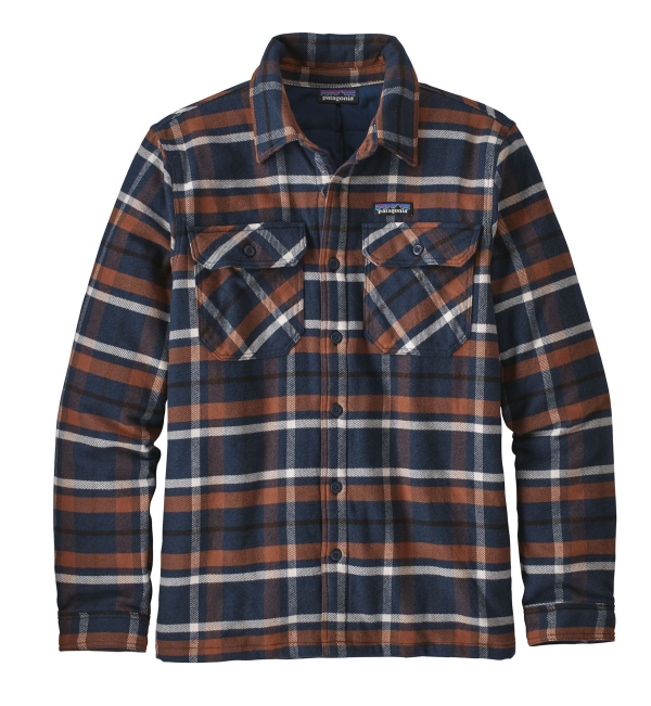 Patagonia Insulated Fjord Flannel Jacket Toms Place Navy Blue