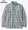 Patagonia Island Hopper Shirt Burr Berlin Blue