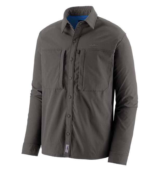 Patagonia Long-Sleeved Snap-Dry Shirt Forge Grey