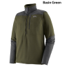 Patagonia R1 Long Sleeved Fitz Roy Quarter Zip Basin Green