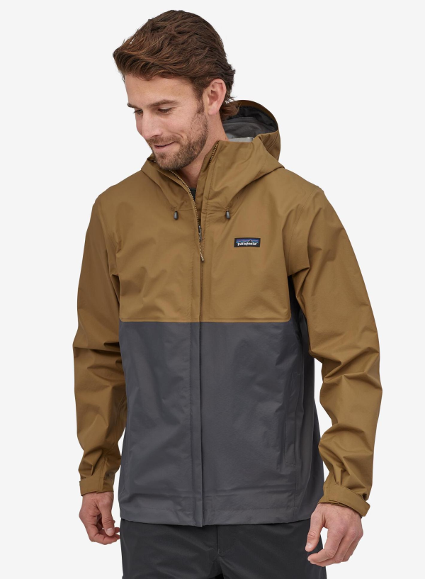Patagonia Torrentshell Jacket Coriander Brown Model
