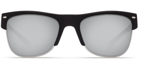 Costa Del Mar Pawleys Polarized Sunglasses Matte Black Gunmetal Wire Silver Copper Mirror Poly Front