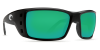Costa Del Mar Permit Polarized Sunglasses Matte Black Green Mirror Glass