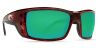 Costa Del Mar Permit Polarized Sunglasses Tortoise Green Mirror Glass