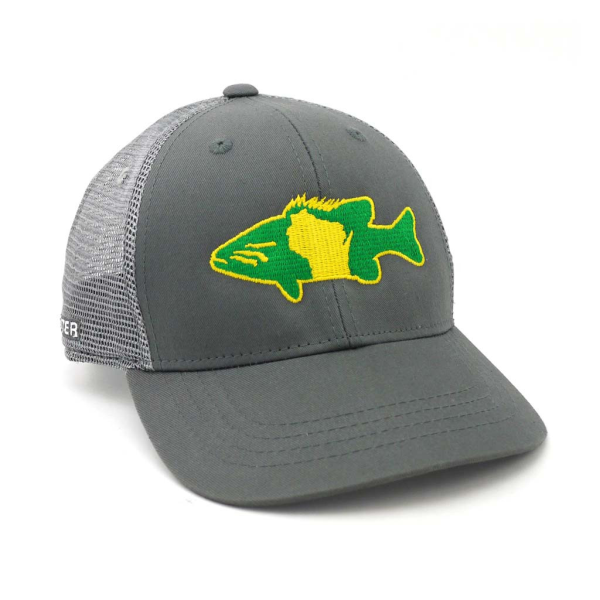 Rep Your Water Hat - Smallmouth Bass Wisconsin Gray