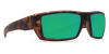 Costa Del Mar Rafael Polarized Sunglasses Matte Retro Tortoise Green Mirror Poly