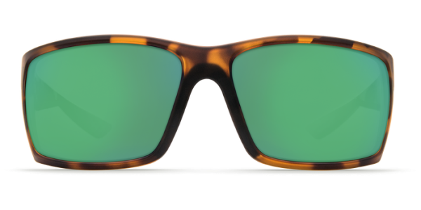 Costa Del Mar Reefton Polarized Sunglasses Matte Retro Tortoise Green Mirror Glass Front