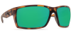 Costa Del Mar Reefton Polarized Sunglasses Matte Retro Tortoise Green Mirror Glass
