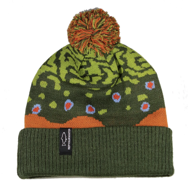 Rep Your Water Brook Trout Skin 2 Knit Hat