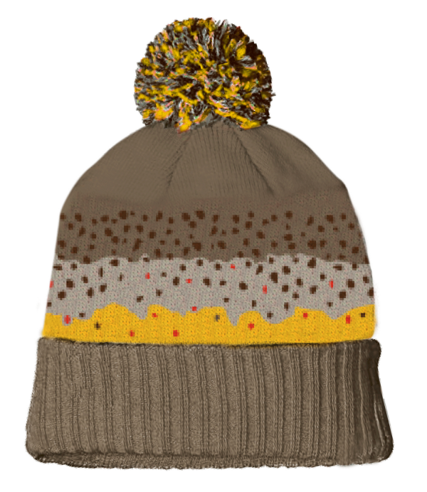 Rep Your Water Hat - Brown Trout Skin Knit