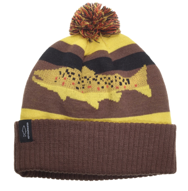 Rep Your Water Knit Hat Digi Brown Trout