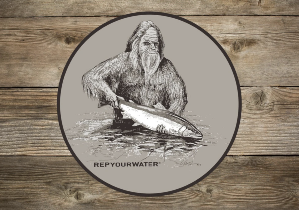 Rep Your Water Squatch and Release Sticker