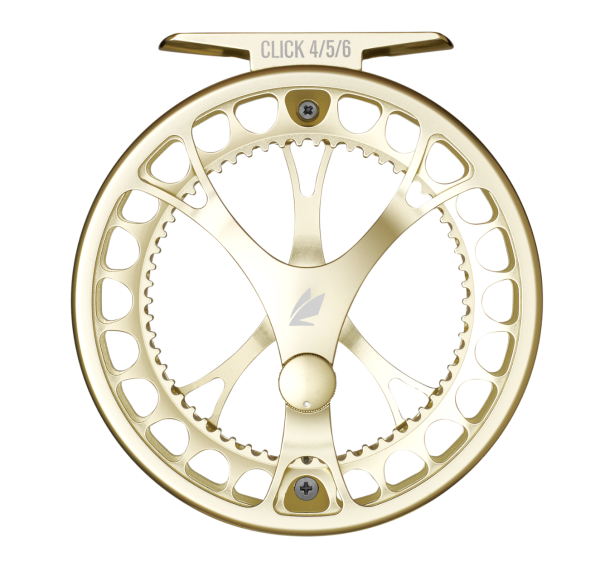 Sage Click Fly Reel Champagne Front
