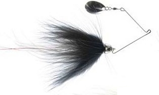Schmidterbait Bass Pike Fly Black