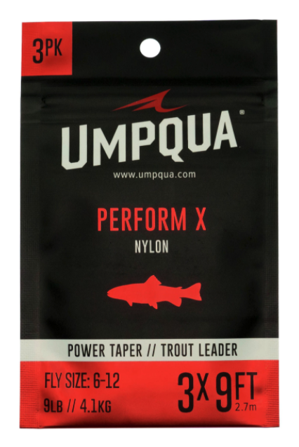 Umpqua Perform X Power Taper Trout Leaders 3 Pack