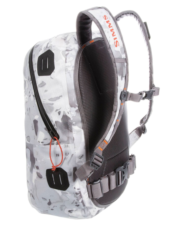 Simms Dry Creek Z Backpack Cloud Camo Grey Back