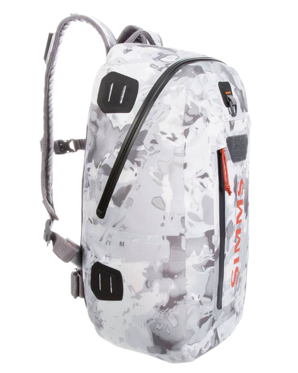 Simms Dry Creek Z Backpack Cloud Camo Grey Side