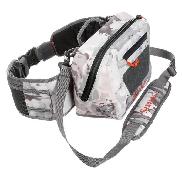 Simms Dry Creek Z Hip Pack Cloud Camo Grey Side