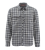 Simms Guide Flannel Shirt Steel Plaid