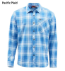 Simms Outpost LS Shirt Pacific Plaid