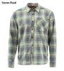 Simms Outpost LS Shirt Storm Plaid