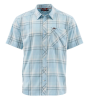 Simms Outpost SS Shirt Mist Plaid