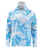 Simms Solarflex Ultracool Armor Shirt Cloud Camo Blue