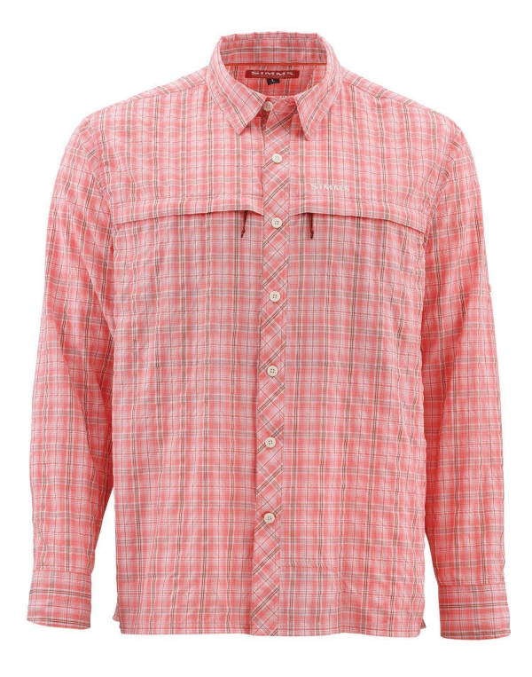 Simms Stone Cold Shirt Dark Coral Plaid