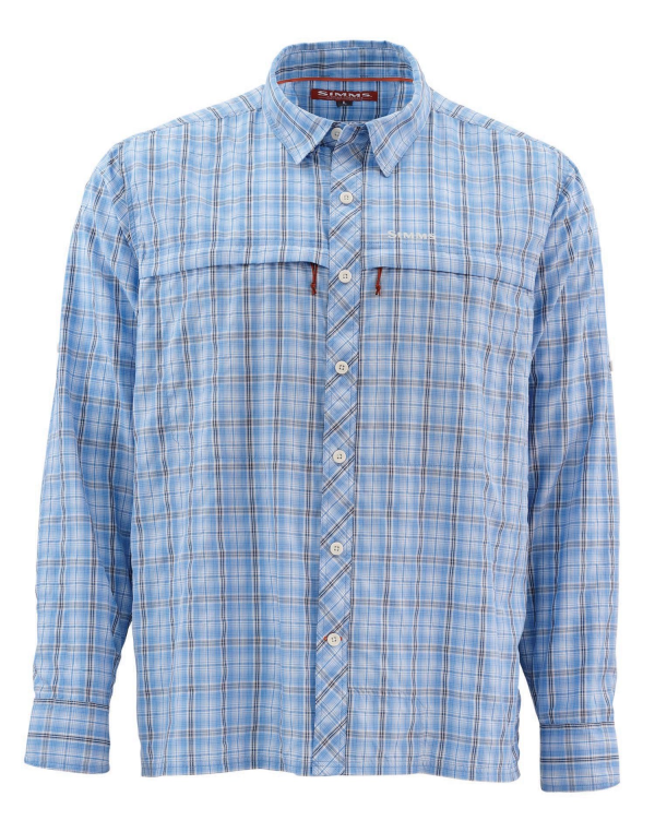 Simms Stone Cold Shirt Harbour Blue Plaid