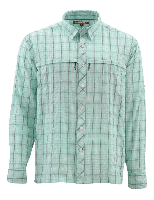 Simms Stone Cold Shirt Mint Plaid