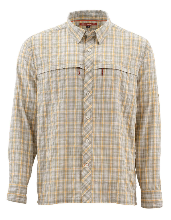 Simms Stone Cold Shirt Sandstone Plaid