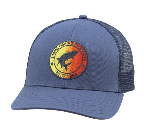 Simms Tarpon Patch Trucker Hat Ink Blue