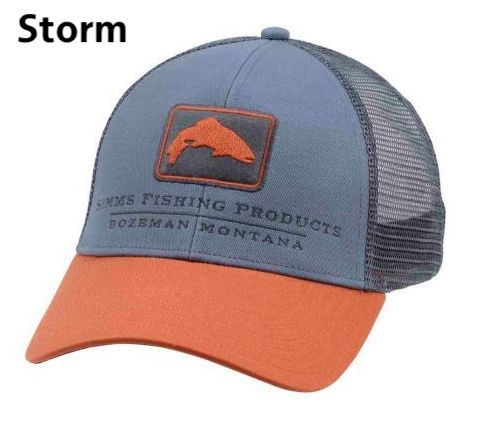 Simms Trout Icon Trucker Hat Storm