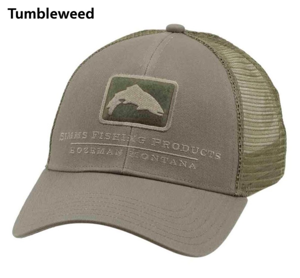 Simms Trout Icon Trucker Hat Tubmleweed