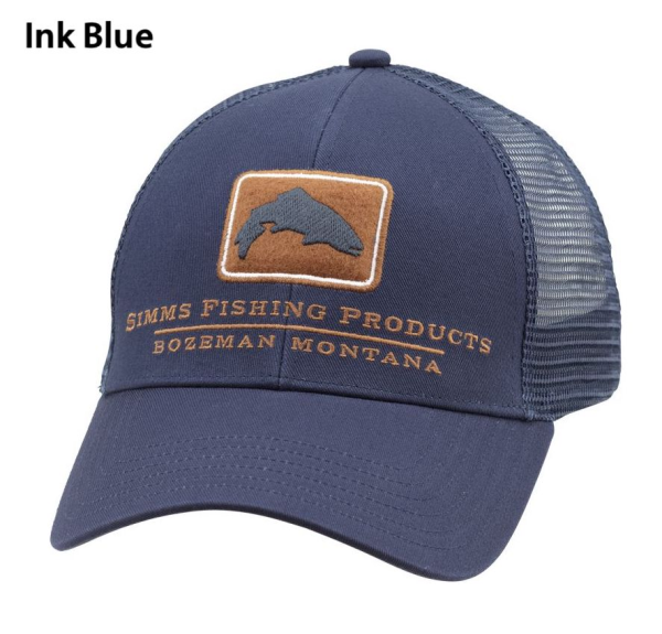 Simms Trout Icon Trucker Hat Ink Blue