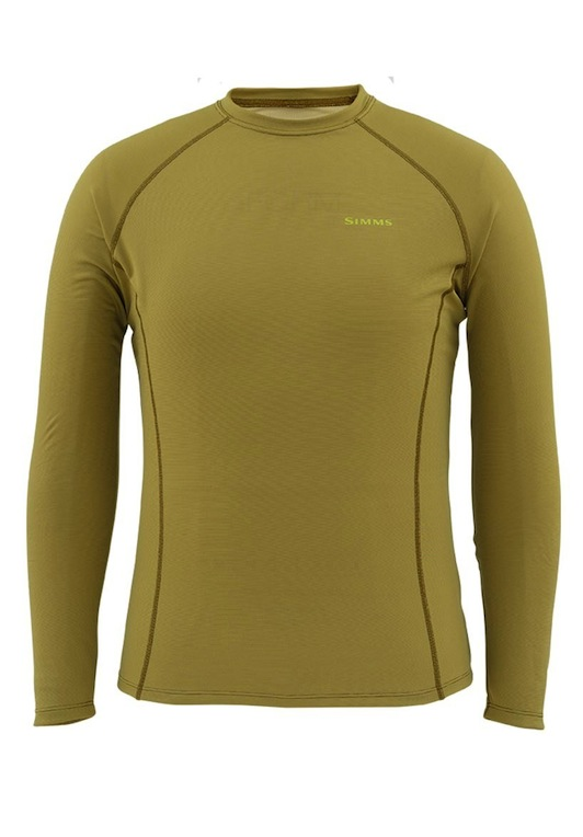 Simms Waderwick Core Crewneck Army Green