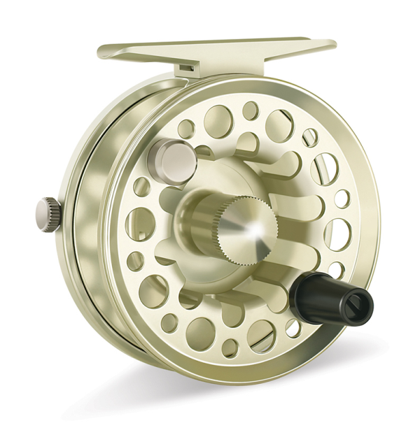 Tibor Light Back Country Fly Reel Satin Gold