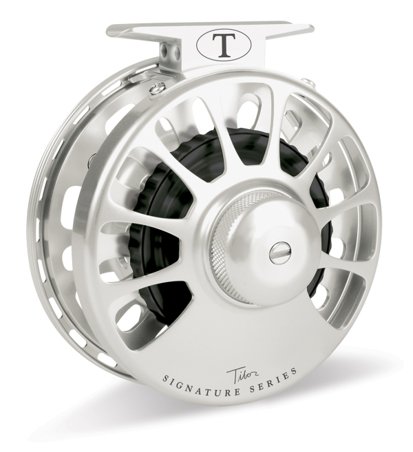 Tibor Signature Fly Fishing Reel Frost Silver 11/12