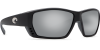 Costa Del Mar Tuna Alley Polarized Sunglasses Matte Black Silver Copper Mirror Glass