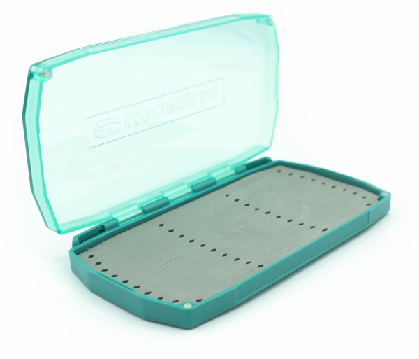 UPG LT Baitfish Foam Fly Box Aqua Open