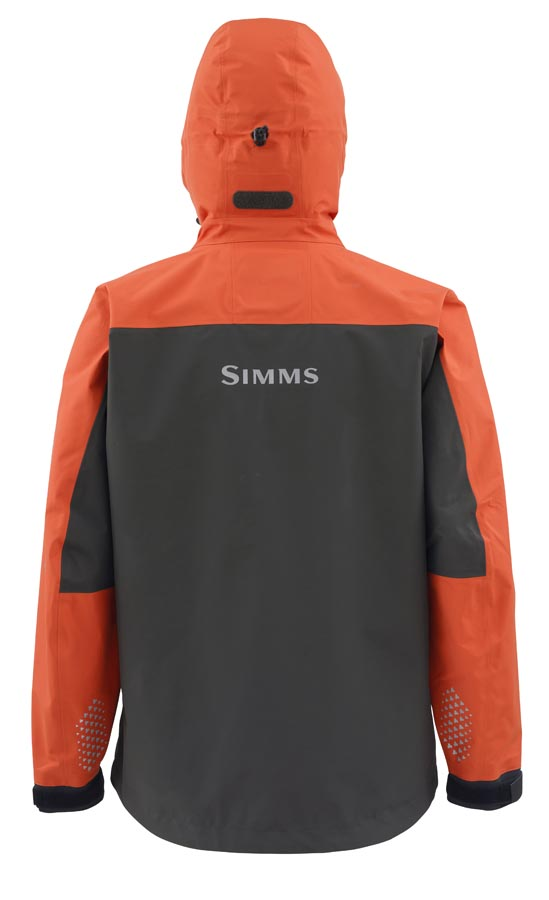 Simms Contender Jacket Fury Orange Back