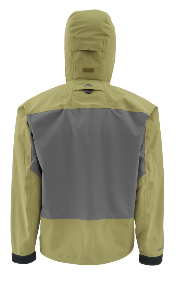 Simms G3 Guide Jacket Army Green Back