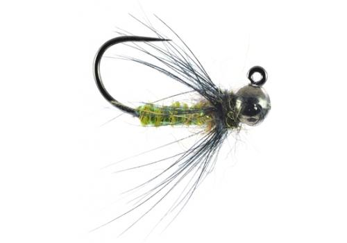 Jigged Caddis Pupa Green Nymph Trout Fly