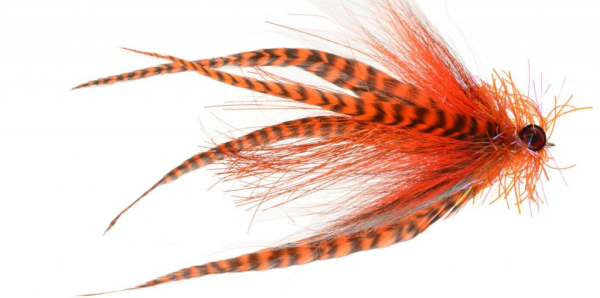 Musky Mayhem Musky Fly Orange/Black