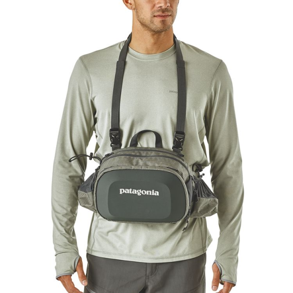 Black and Green Patagonia Hip Pack