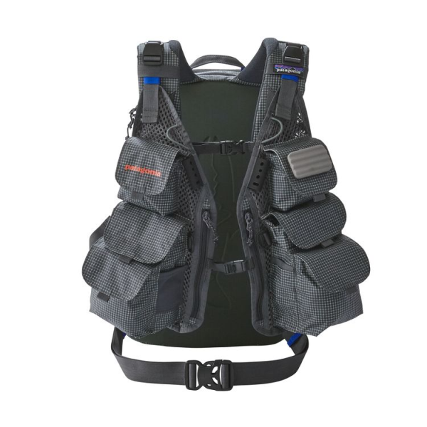 Front view Patagonia vest backpack
