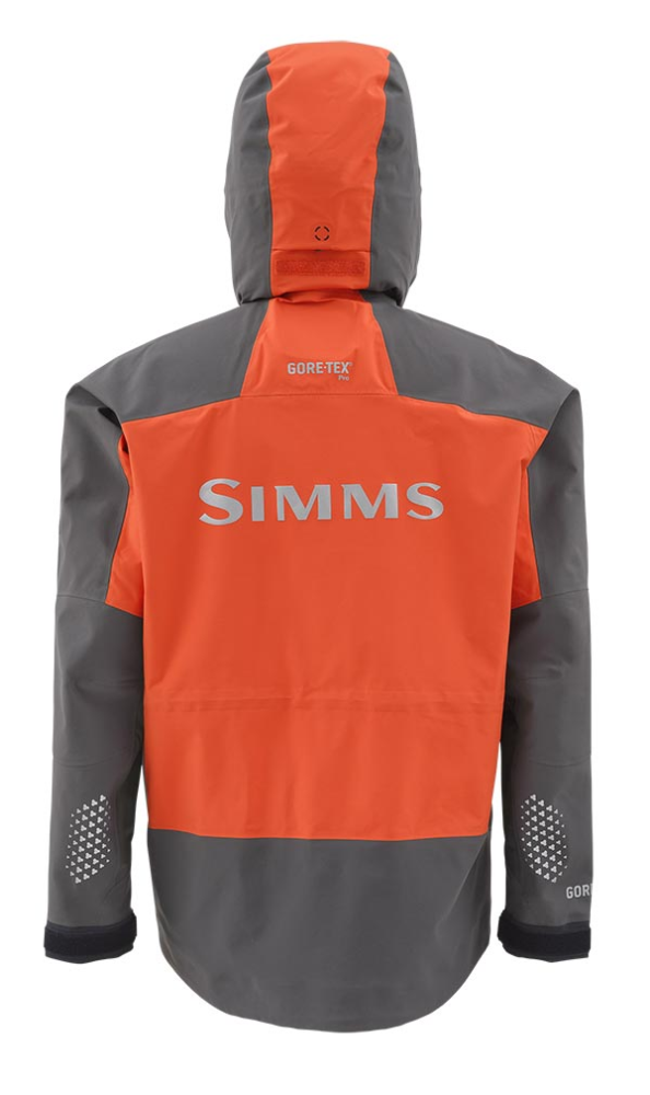 Simms ProDry Jacket Fury Orange Back