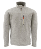 Simms Rivershed Quarter Zip Sweater Cork Front